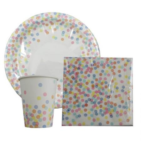 Rainbow Confetti Tableware